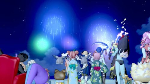 ドラクエ10の8周年記念ジュレットで花火