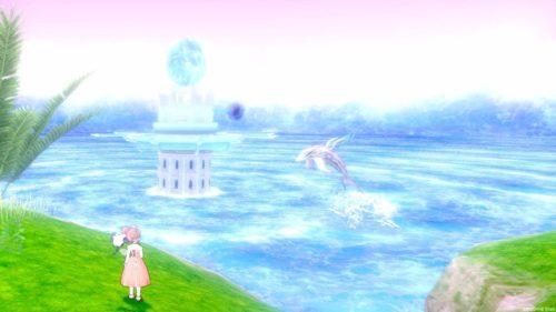 神聖秘文ヒエログリフ水しぶき舞う海の精