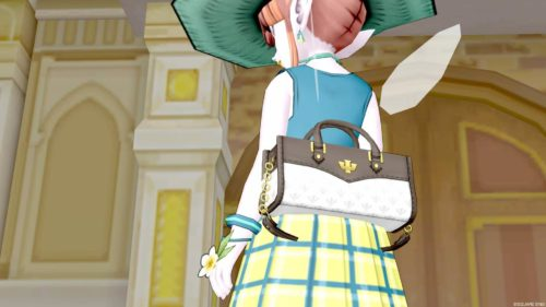 夏ドレアチェックのスカートむぎわらぼうしレモンあさぎ