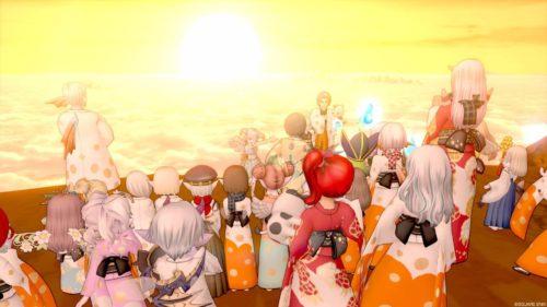 星明の宮お正月イベント水玉模様のふりそで